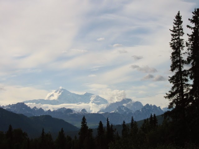 Denali as seen from a highway stop north of Talkeetna