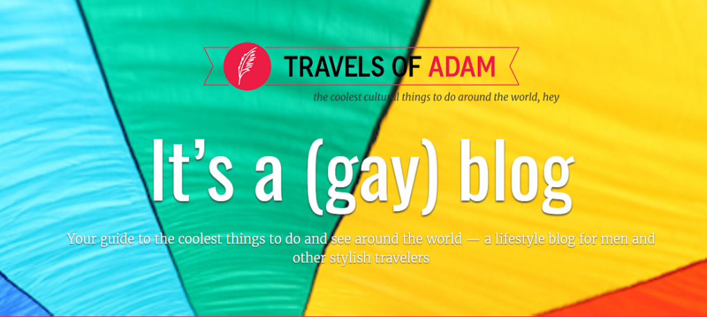 Travels of Adam homepage banner