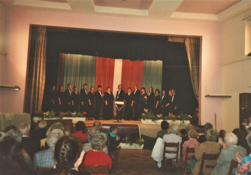 Eureka College Chorale performance at Colwyn Bay