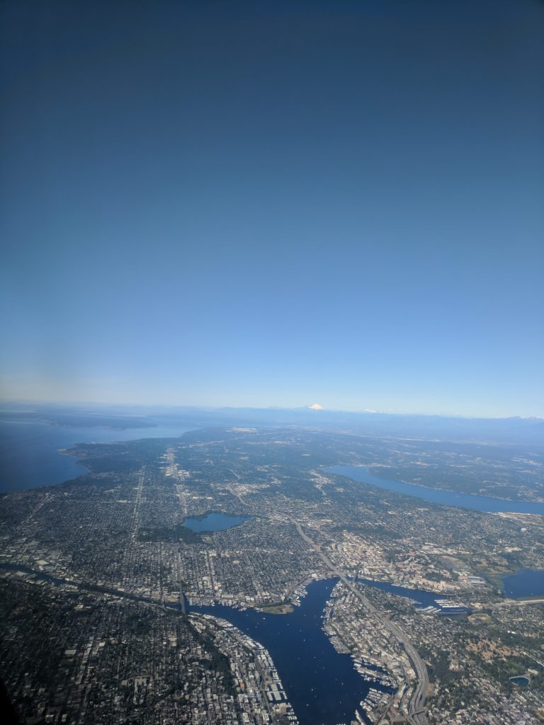 Looking north at Lake Union and Greenlake