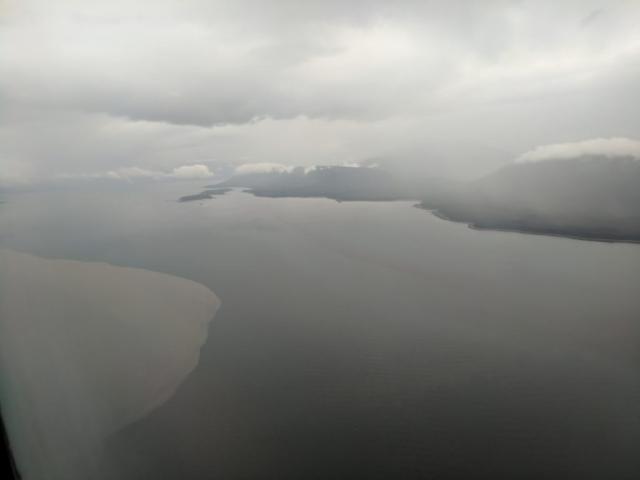 Glacial water meets the ocean