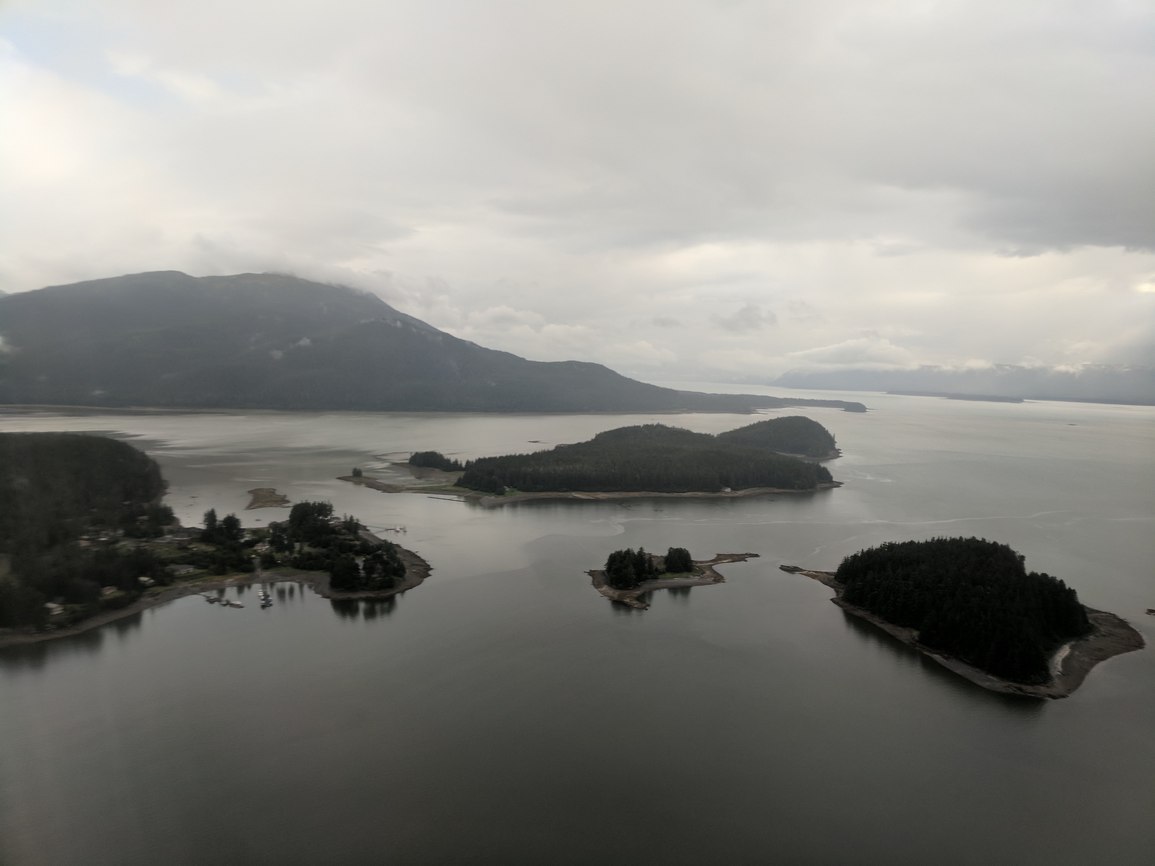 Islands at the mouth of Mendenhall River