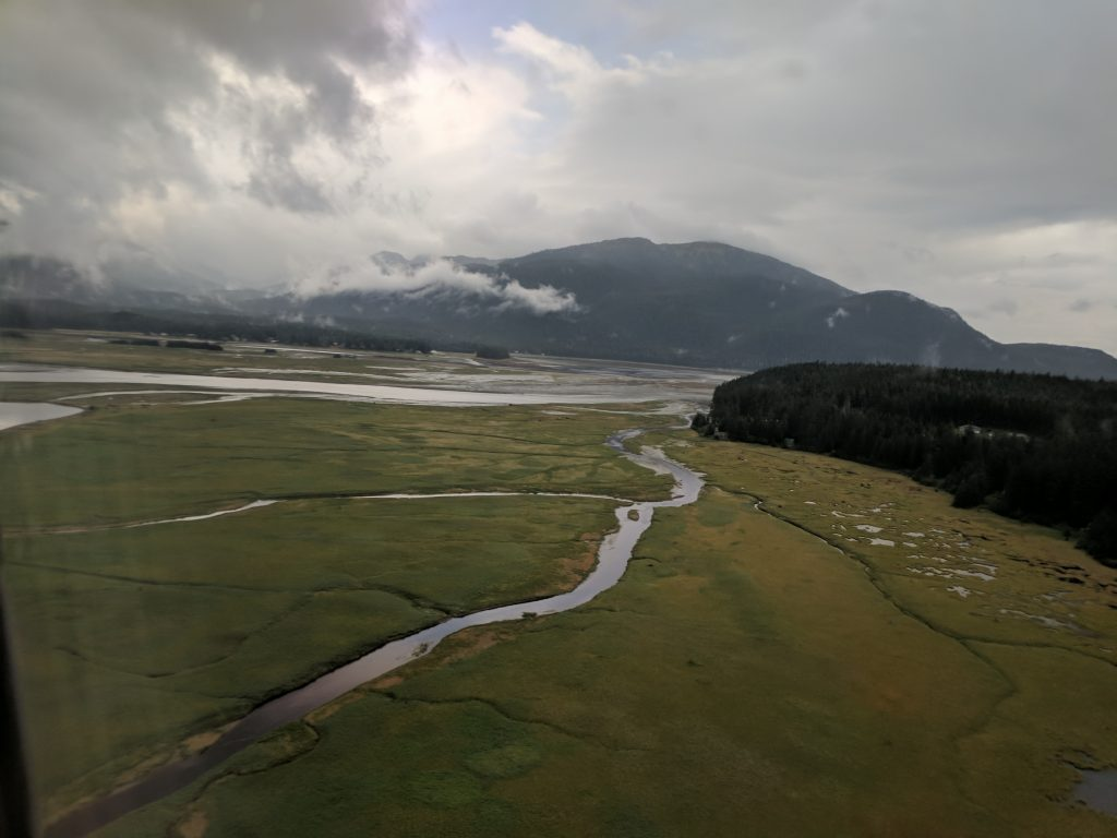 About to land in Juneau