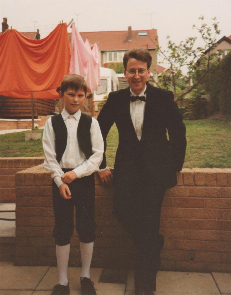 Lane with Jonathan Jones (host family) in Colwyn Bay, Wales
