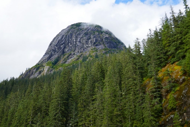 Dome-shaped mountain adjacent to Tracy Arm