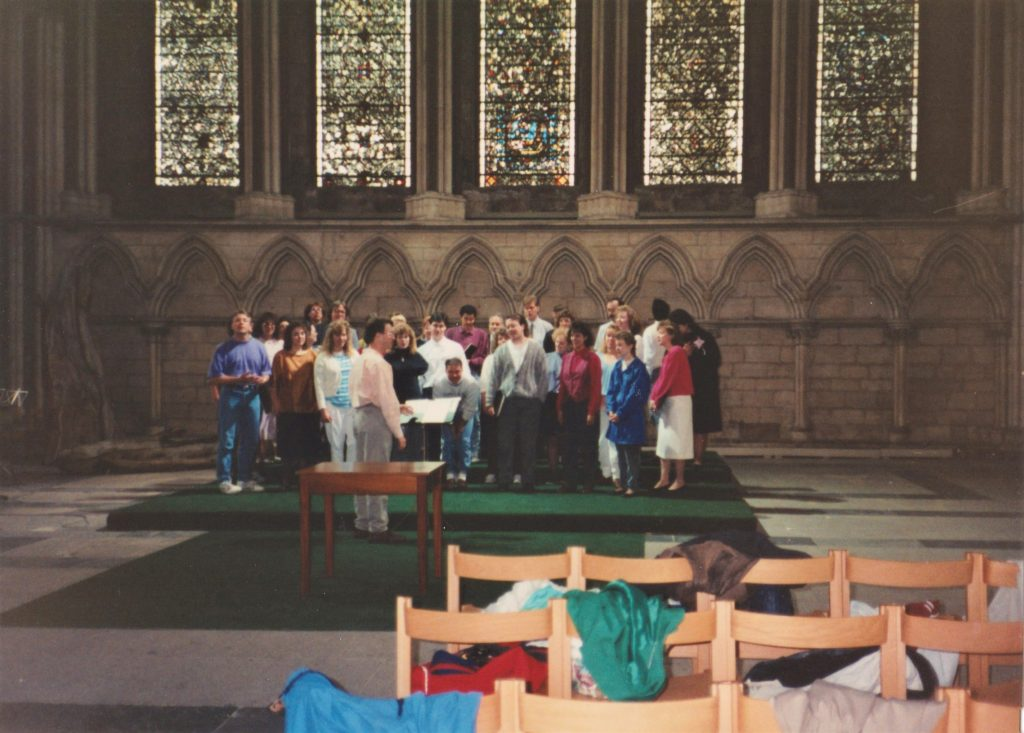Impromptu concert at York Minster