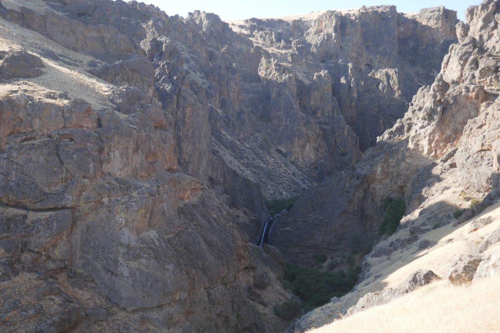 Jump Creek Falls, seen from above the canyon