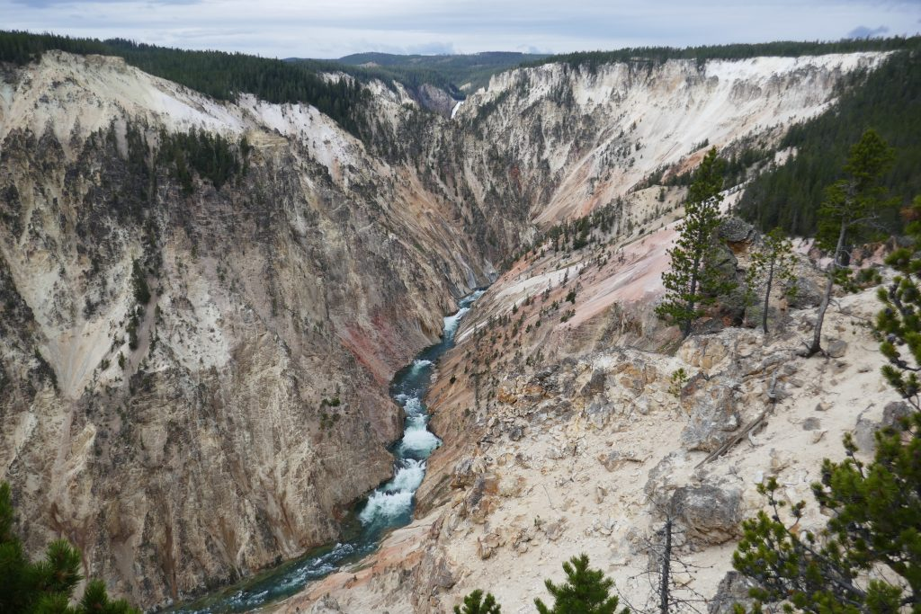 View of the Grand Canyon of the Yellowstone from Inspiration Point