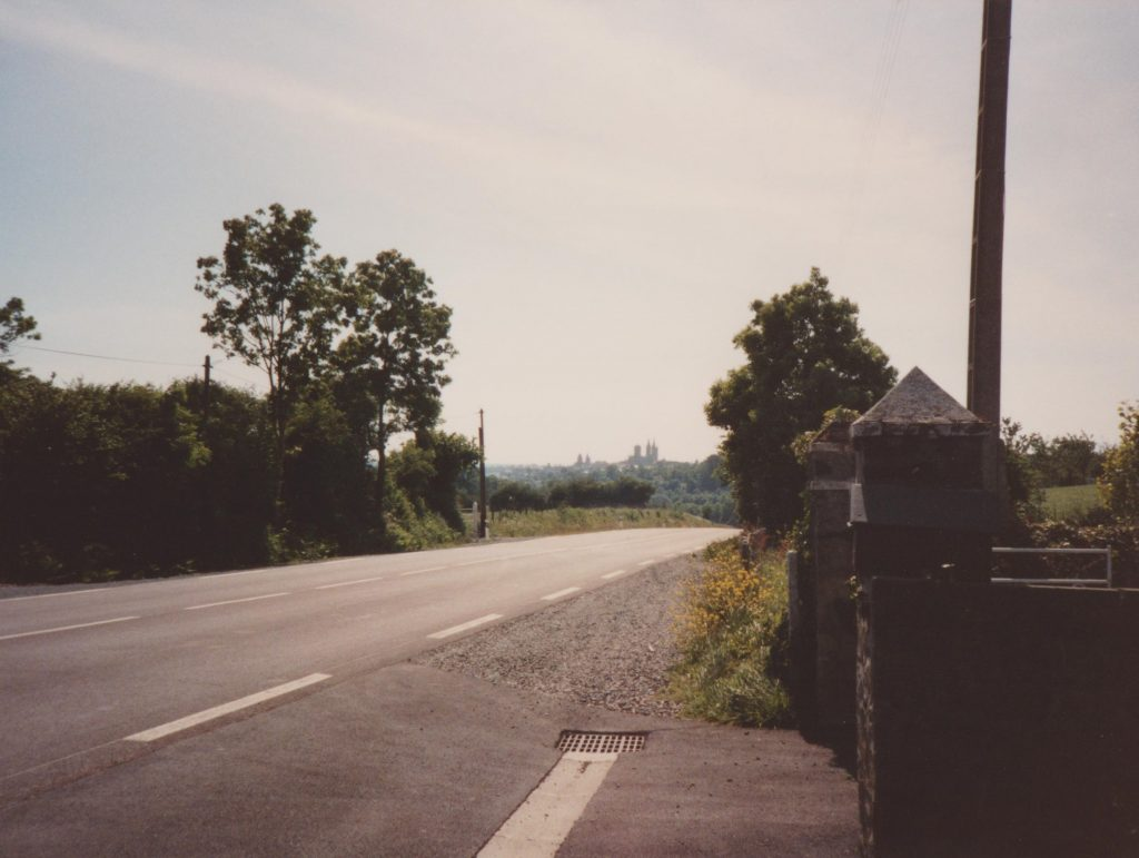 Normandy, St. Lo in the distance