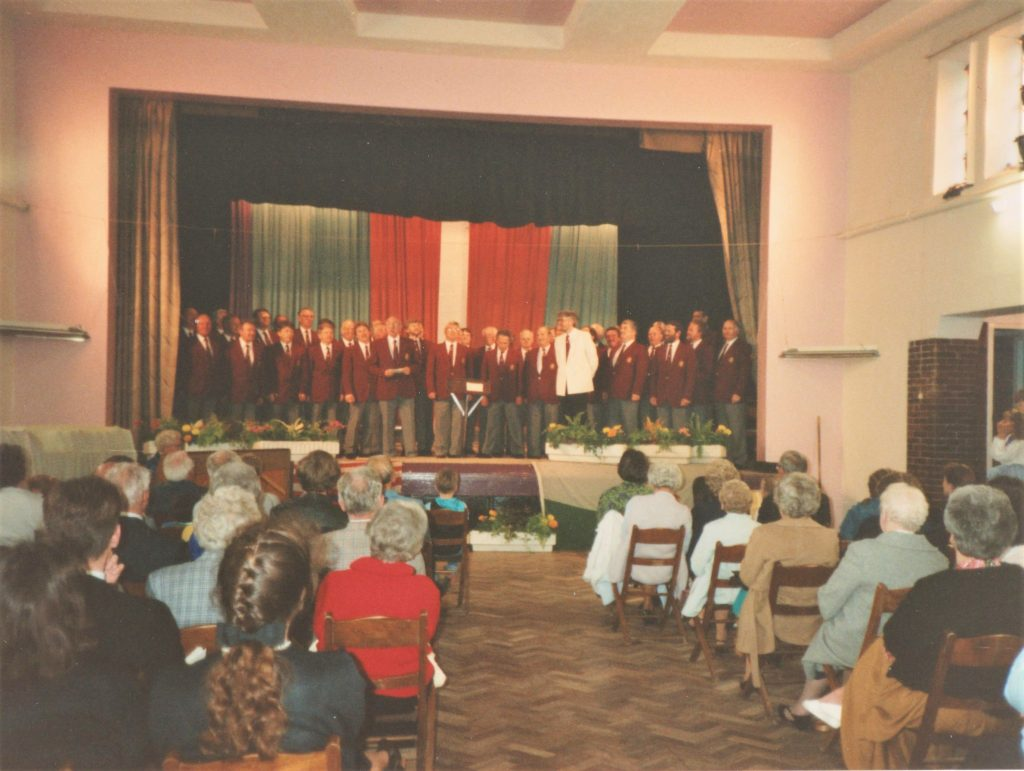 Men's Choir performance, Colwyn Bay