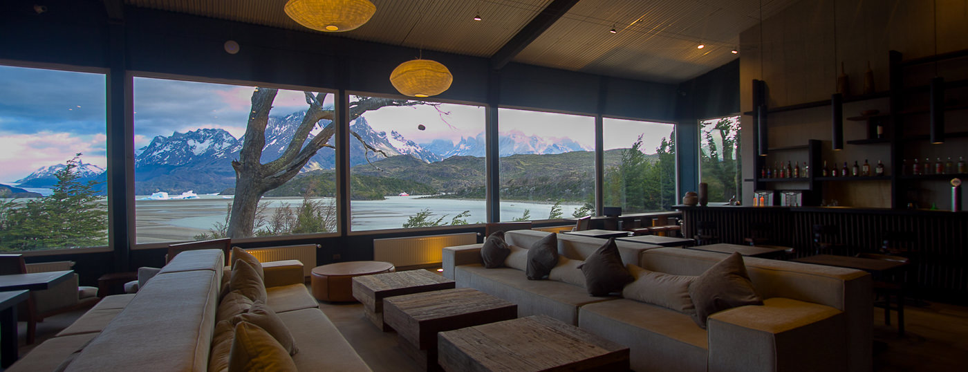 Hotel Lago Grey, in Torres del Paine National Park, Chile