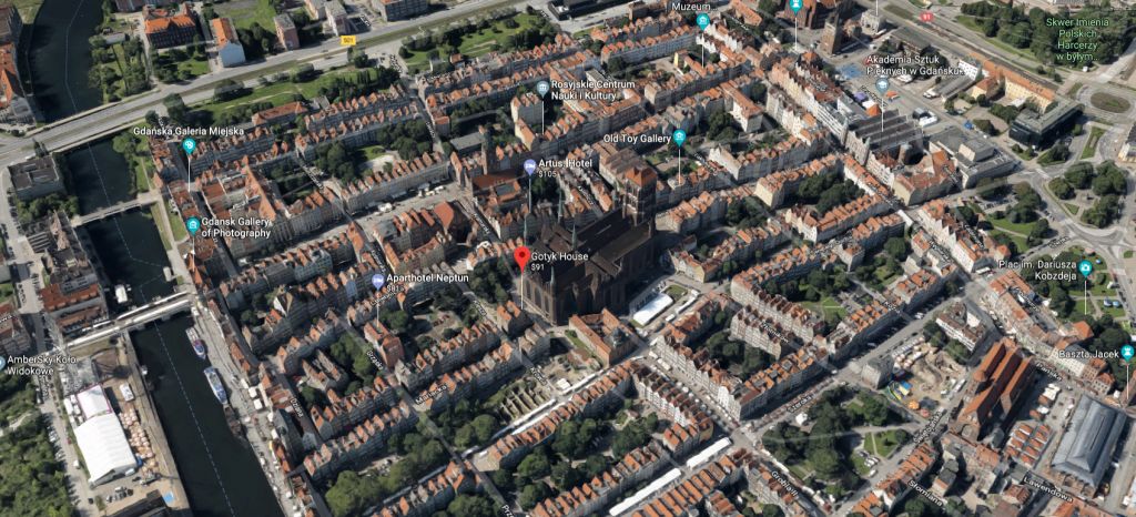 Aerial view of Gdansk