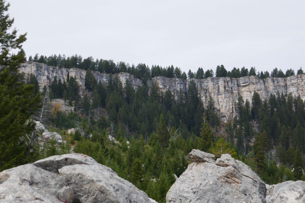 Cliffs in Yellowstone